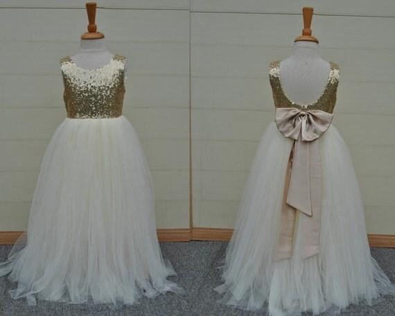 White Flower Girl Dresses Etsy 93