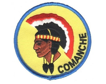 Comanche Indian Native American Patch with Headdress