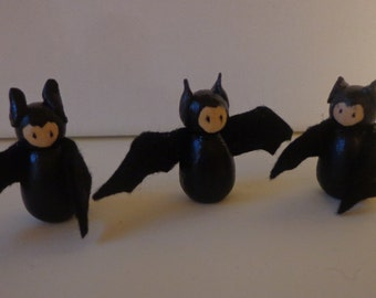 Bat Peg Dolls