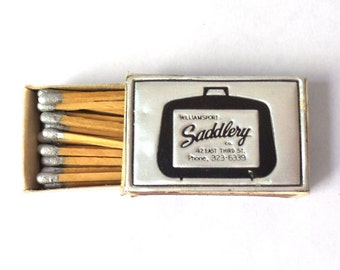 Metallic Matchbox with Silver-tipped Matches - Saddlery
