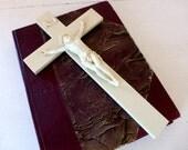 Antique French Ivory Coloured Bakelite Crucifix