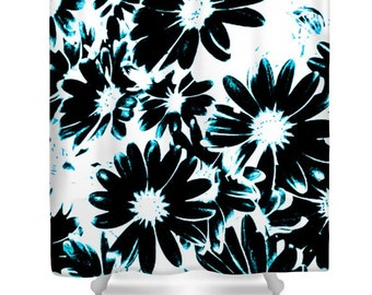 Daisy Shower Curtain Etsy