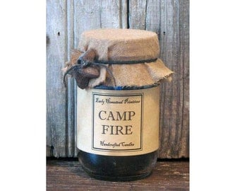 Primitive Camp Fire Scented Jar Candle