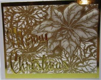 Handmade Embossed Christmas Card