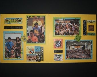 Band Scrapbook Pages music scrapbook layouts 12 by 12 recital concert pages premade music pages rock and roll pages concert layouts