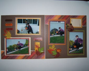 Fall scrapbook pages autumn scrapbook layouts fall scrapbook layouts autumn scrapbook pages 12 by 12 premade pages for fall or autumn