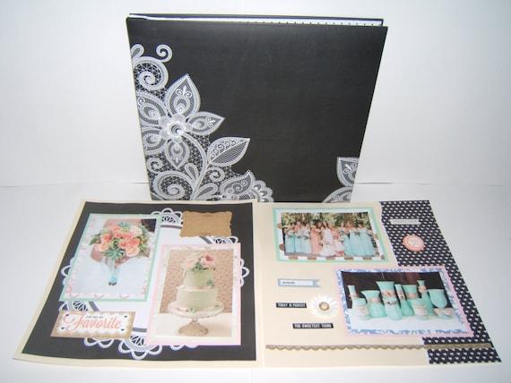 Wedding scrapbook album anniversary mint