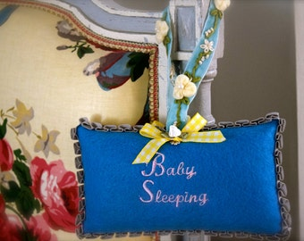 French Lavender Sachet Rectangle Baby Sleeping Door Hanger