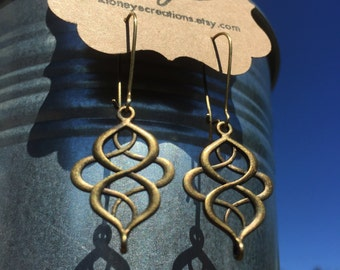 Infinity Knot Antique Bronze Earrings