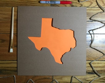 State of Texas Stencil