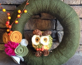 Hoot! Hoot! Owl Fall wreath