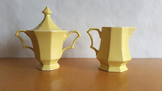 Vintage Independence Ironstone Interpace Japan Yellow Cream