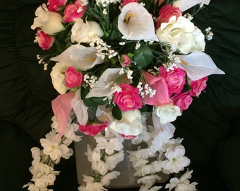 Pink & White Lily Bridal Package