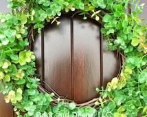 Eucalyptus Faux Wreath~Front Door Wreath~Fixer Upper~Year Around Wreath~Everyday Wreath
