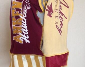 Ankeny Hawks Scarf, Hawks Tshirt Scarf, Ankeny Upcycled Tshirt scarf, ANK3