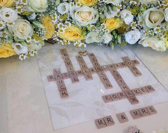 Scrabble Art Wedding Frame