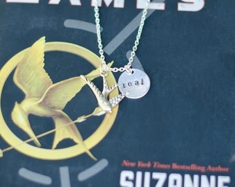 "Hunger Games Inspired ""Real"" Hand Stamped Necklace"