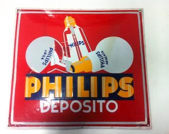 Old sheet poster glazed Philips deposit