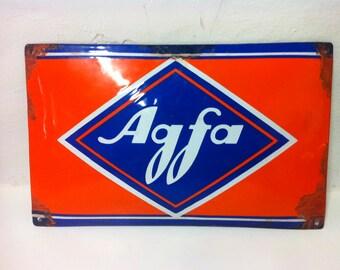 Chapa old poster glazed Agfa