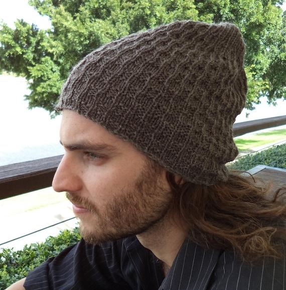 Knitting PATTERN, Mens beanie patterns, textured rib stitch, SURF hat knit pa...