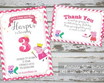 Peppa Pig Invitation Printable