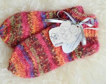 teen girl gift , cocy gift , wool socks , hiking socks , warm home slippers , thick ankle socks , stocking stuffer , christmas gift 6-7.5