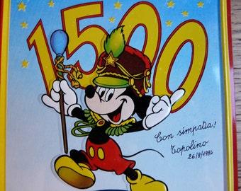 SALE! Cute Vintage Topolino Plate - Italy 1984 - Targa Commemorativa 1500 Numeri di Topolino