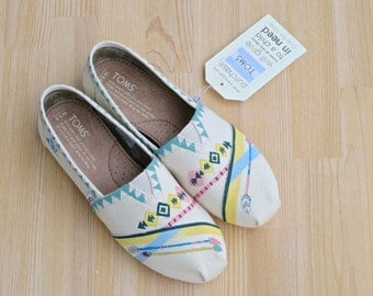 Tribal /// Custom Toms /// *End of Summer Sale*