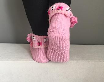 Christmas Gift, Women Socks, Cute Socks, Non-Slip Socks