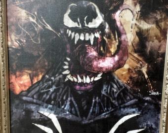 "Venom - Stretched Canvas Giclée Print - 11"" x 14"""