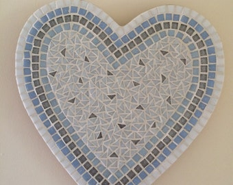 Something Old, Something New  - Handmade Heart Mosaic