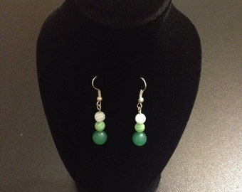 Earrings - Different Greens