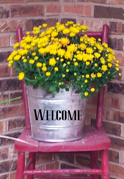 Welcome Galvanized Pail Bucket For Front Porch Decor