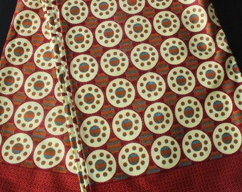 african print fabric (J016) brown and cream circles available per metre /african fashion/african dress/ prints/ african fabric