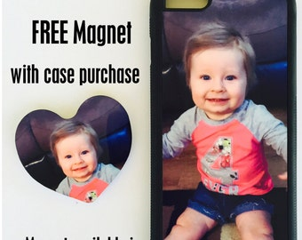 Personalized Photo Custom Cell phone case + FREE Magnet for iphone 6 Plus or Iphone 6