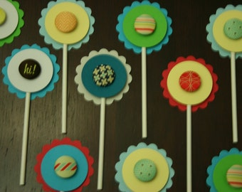 Hand crafted one of a kind Cupcake toppers