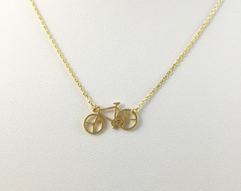 Bicycle necklace, Bike necklace pendant Necklace