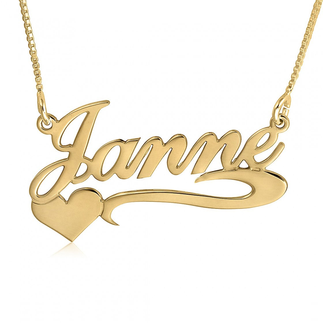 gold name necklace 14k real gold nameplate necklace nome