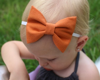 orange bow headband