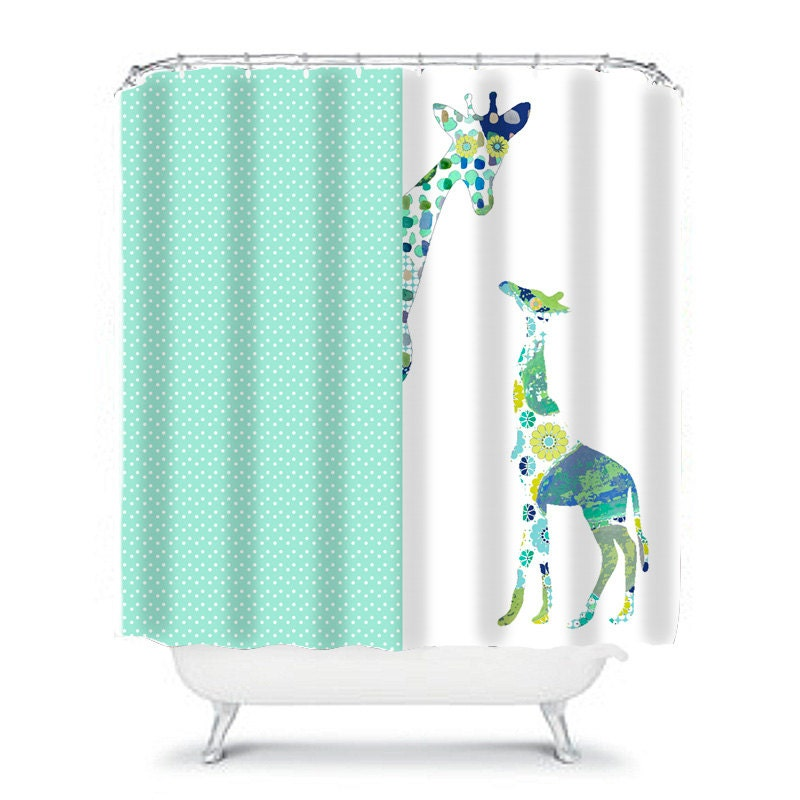 giraffe shower curtain kids shower curtain kids bathroom. Black Bedroom Furniture Sets. Home Design Ideas