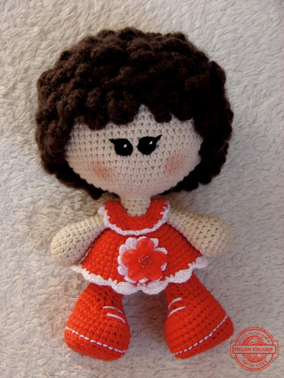 Crochet Hair For Dolls : Doll handmade rag doll crochet doll stuffed doll soft doll My first ...