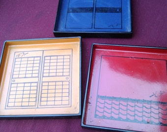 Japanese Laquer Coasters