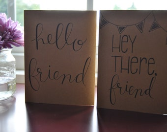 Hello, Friend Pack of 5 Blank Greeting Cards