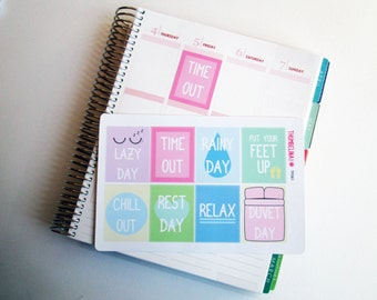 Put Your Feet Up planner stickers for Erin Condren and more (TP081)