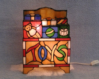 Stained Glass Accent Lamp - Toy Box
