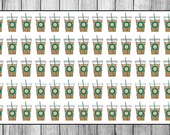 56 Iced Coffee/Tea Planner Stickers