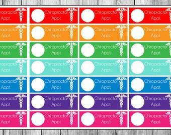 Chiropractor Planner Stickers