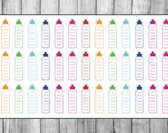 Water Bottle Water Tracker Planner Stickers