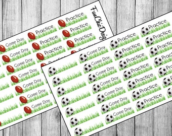 Sports Activity Planner Stickers