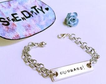 Custom name plate bracelet